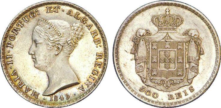 Moeda do reinado de Maria II de Portugal.