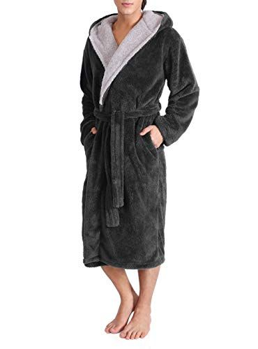 New David Archy Men s Hooded Fleece Plush Soft Shu Velveteen Robe Full  Length Long Bathrobe Mens Fashion Clothing. Mens Clothing   34.29 newforbuy 628527b45