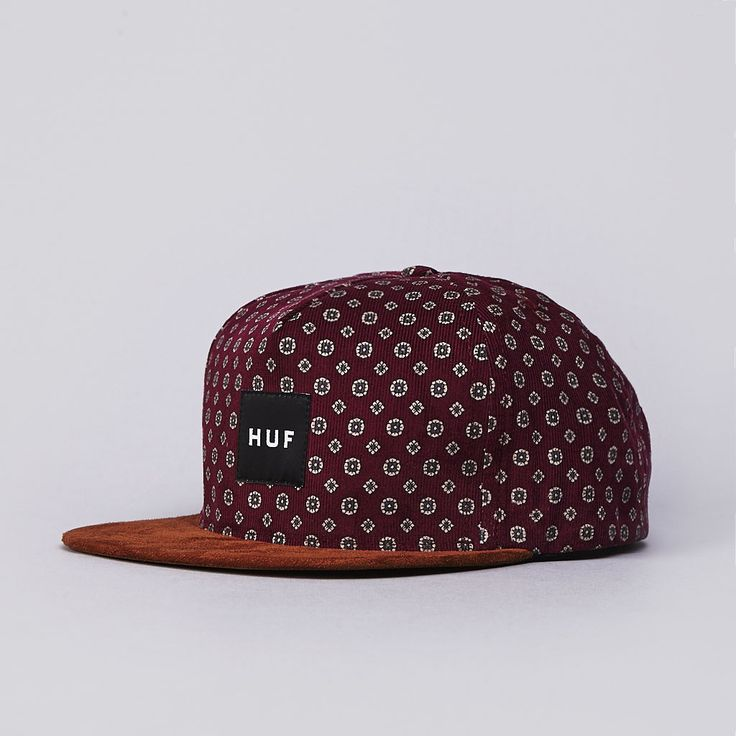 Flatspot - Huf Flower Cord Snapback Cap Wine Get snapback hats from www.hats-cool.com                                                                                                                                                      Más