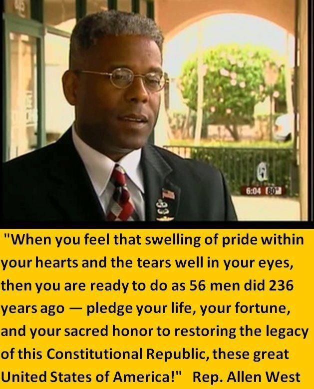 Allen West-He should have been our first black president! #usa #politics