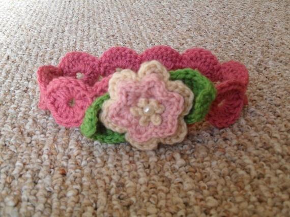 Crochet Headband With Flower Pattern Tutorial : Flower Headband Crochet - Baby Pinterest