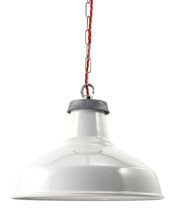 White Enamel Industrial Lamp Shade | Factorylux