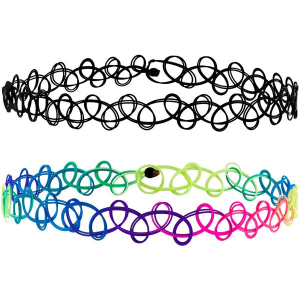Accessorize Tattoo And Neon Woven Anklets found on Polyvore featuring accessories, jewelry and necklaces