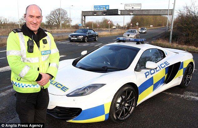 Britain's fastest police vehicle, a 200mph plus McLaren super car