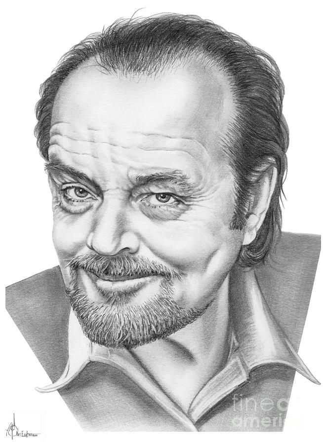 Jack Nickolson by Murphy Elliott ~ traditional pencil art