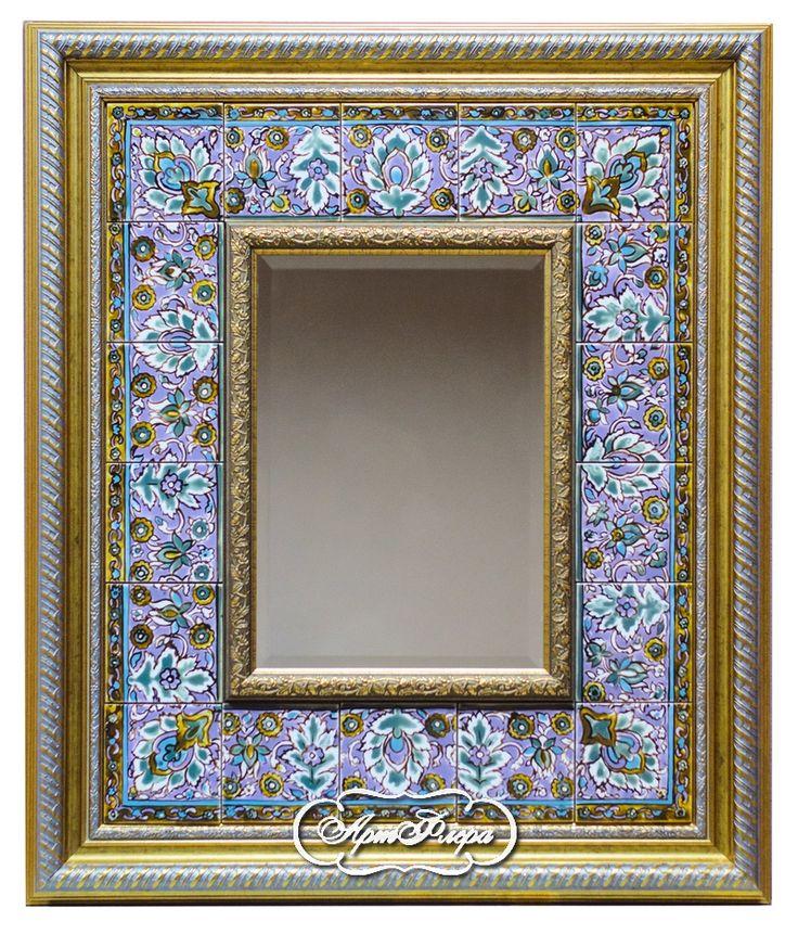 "Зеркало с фацетом ""Персидский ковер""  60 х70 см, 18 000 рублей."