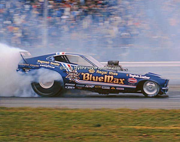 """Blue Max"" Raymond Beadles' Mustang Top Fuel Funny Car"