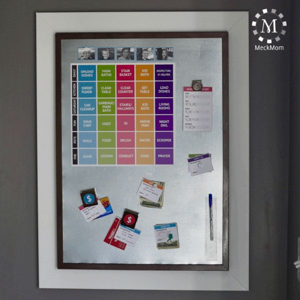 ***Featured on KSL's Studio 5*** Watch the segment by clicking this Studio 5 Link Nothing saves a mom's sanity like a functional job chart. This simple, magneti