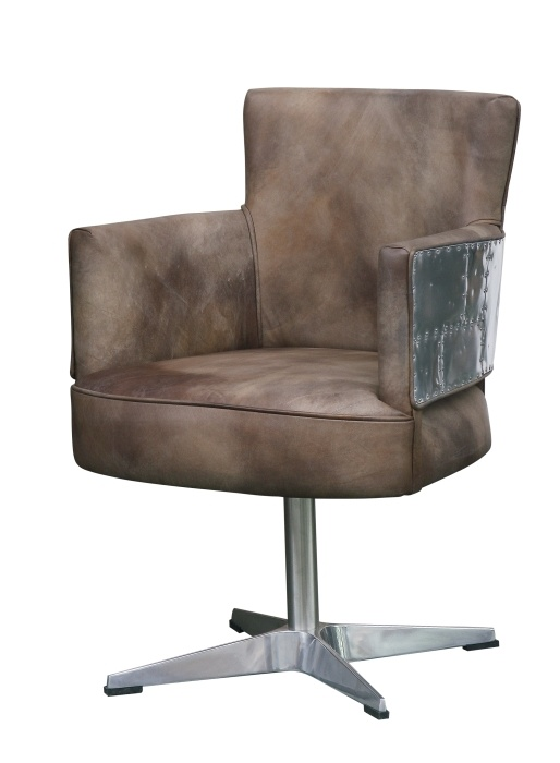 Armchair, Blackhawk Collection.  Unique industrial style collection. Blackhawk combines a vanguard style with high quality materials and meticulous finishing. The individual elements draw on the look of old helicopters. Swivel chair with a comfortable seat and back.