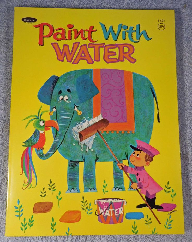 Paint With Water Book, Whitman Publishing. 1958. From the