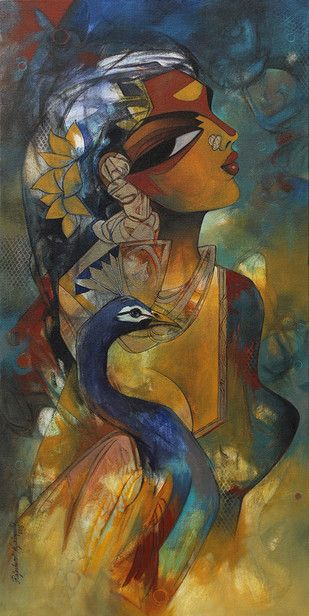 woman with peacock Artwork