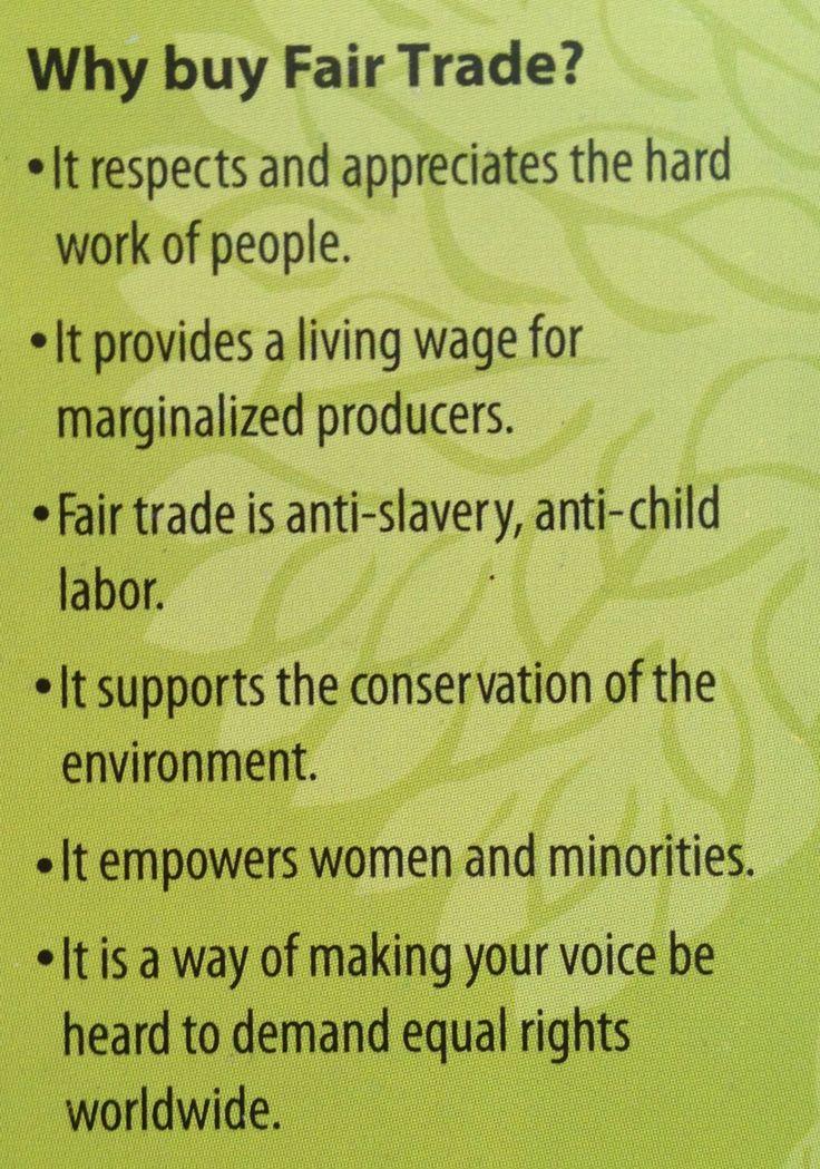 Why buy Fair Trade?