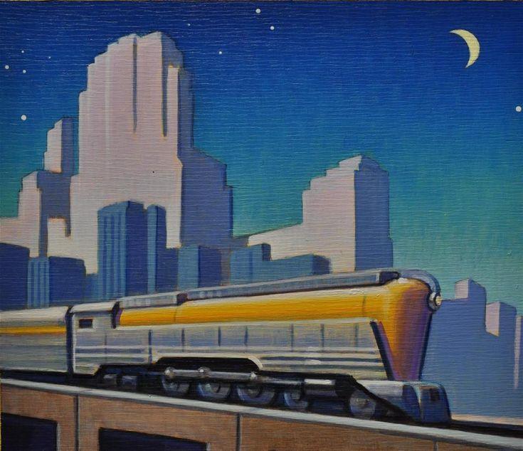 1000 images about robert laduke on pinterest acrylics for Art deco train interior