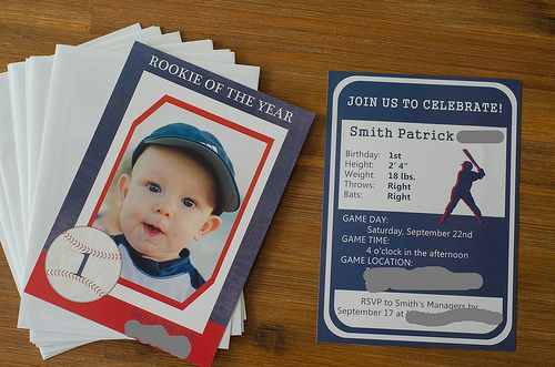 Pink Parsley: Smith's Rookie of the Year Birthday Party