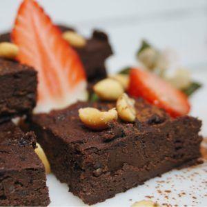 Nyttiga brownie med svarta bönor