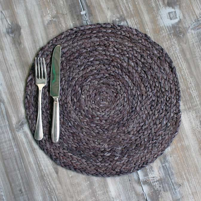 MAIZE TABLEMAT - CHARCOAL GREY - SET OF 4 – THE HOUSE JAR
