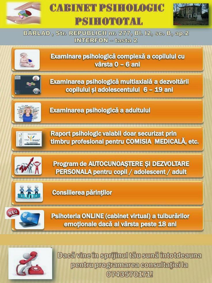 CABINETUL PSIHOLOGIC PSIHOTOTAL B�RLAD: PSIHOLOGIE CLINICA ...