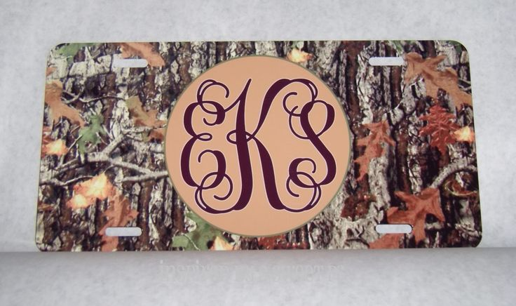 Personalized Camo Car Tag by Inspiredby2SweetPs on Etsy