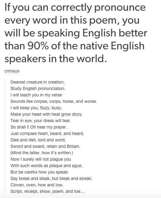 essay on english is a crazy language Let's face it - english is a crazy language there is no egg in eggplant, nor ham in hamburger neither apple nor pine in pineapple english muffins weren't invented in england or french fries in france.