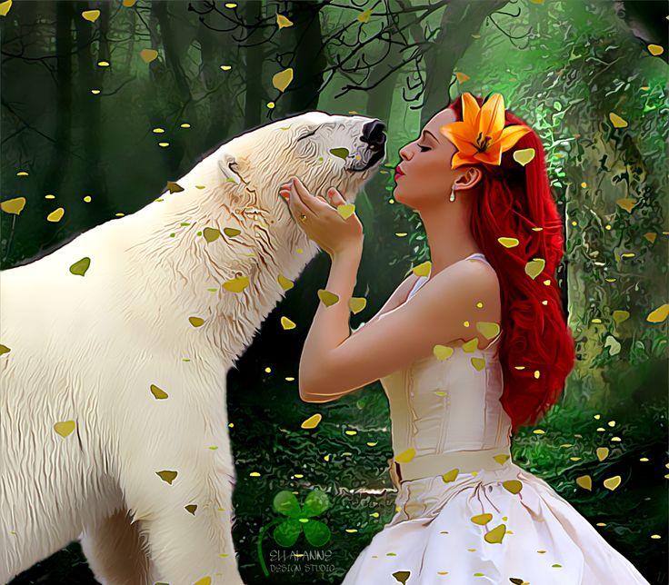 #ellalanne #ellalannedesignstudio #digitalart #digitalpainting #artist #designer #creative #photomanipulation #love #inlove #polarbear #bear #forrest