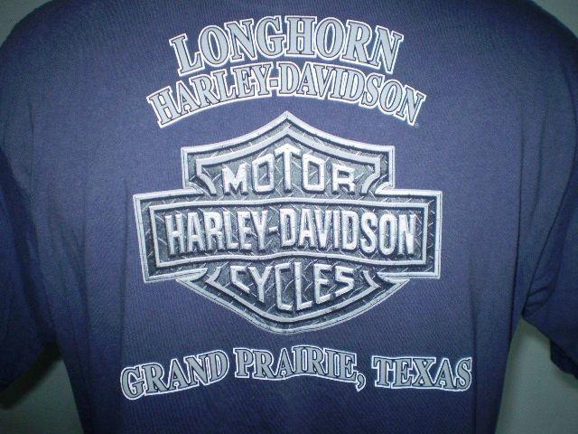 Harley-Davidson Blue XL T-Shirt Grand Prairie Texas Cotton
