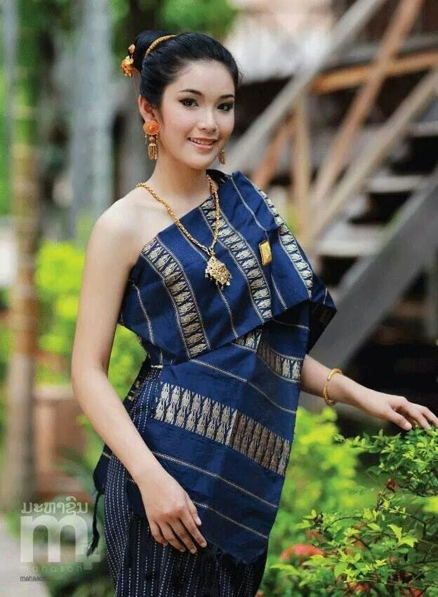 Southeast Asia, Laotian sinh ສິ້ນ traditional dress
