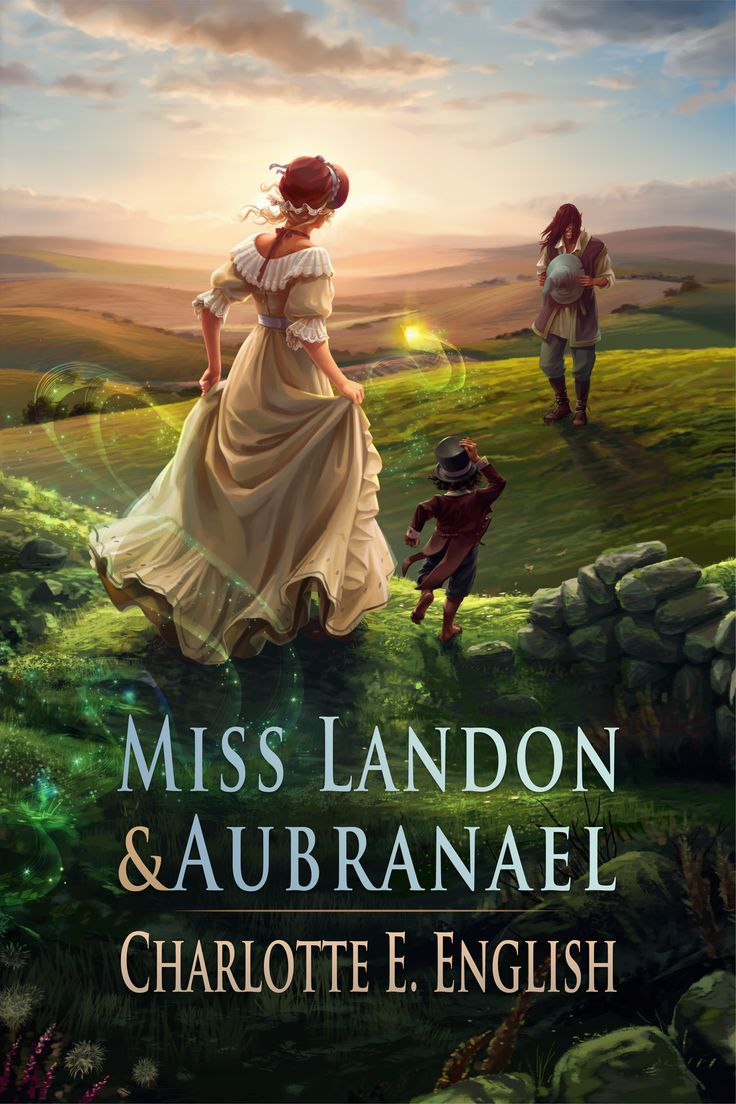 The cover for my fantasy of manners novel Miss Landon and Aubranael, by Elsa Kroese