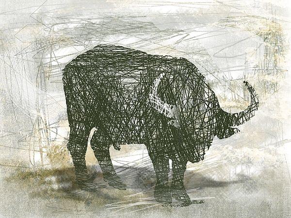 ' Buffalo Bull ' - art print  #buffalo  #bull #animalart  #prints #artprints