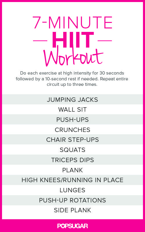 7-Minute HIIT Workout Printable Poster