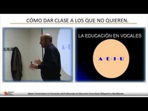 Cómo dar clase a los que no quieren. - Valiosa exposición de Juan Vaello, Master en Profesorado... http://youtu.be/6yZlEsxgEhk
