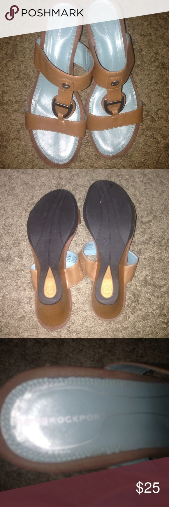 Women's size 8.5W rockport wedges Like new Rockport Shoes Wedges