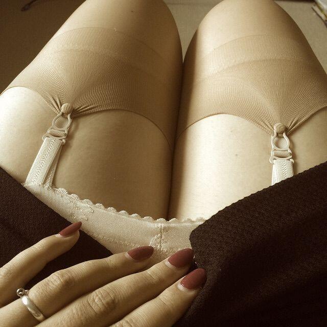 Vintage upskirt stocking tops