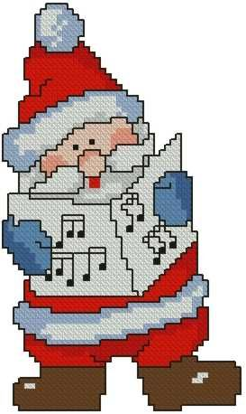 Advanced Embroidery Designs - Caroling Santa