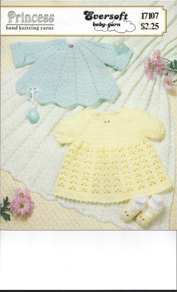 Crochet Pattern Two Charming Baby Infant by NanasVintagePatterns, $3.99