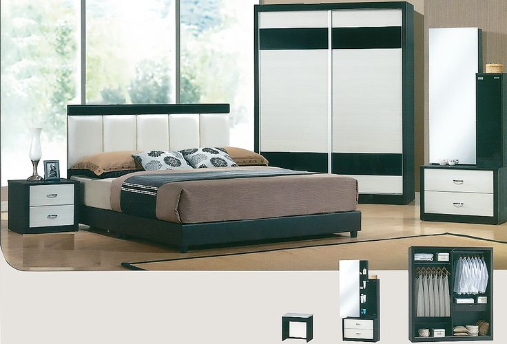 The Craig Bedroom Set Description: Specially designed, sleek and classy, the Craig bedroom set was design to its finest lines. Keeping it simple and neat with clean lines, it consists of a 2 sliding door wardrobe.