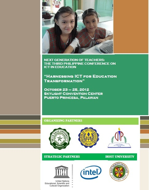 3rd Philippine Conference on ICT in Education (Contact Numbers and Details of the Conference)       http://www.specialeducationphilippines.com/2012/09/25/3rd-philippine-conference-on-ict-in-education-contact-numbers-and-details-of-the-conference/