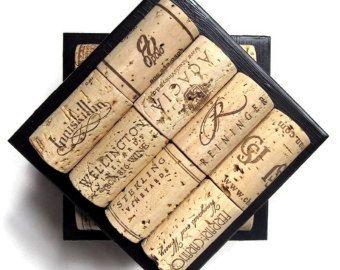 Posavasos de corcho del vino de nido de abeja con cinta de