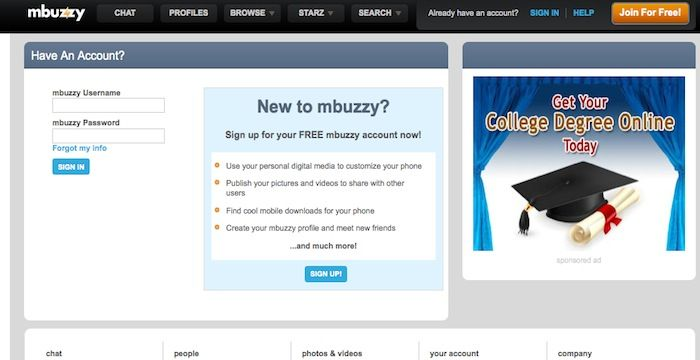 Mbuzzy chat sign in