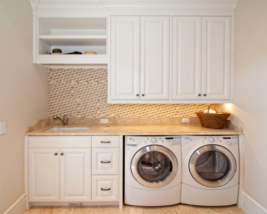 Countertop over washer and dryer home decor pinterest for Laundry room countertop over washer and dryer