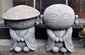 jardins & paysages japonais ÷÷ j'aime les jizos - protecteurs des voyageurs et des enfants ... #JIZO