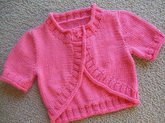 f708d753b Image result for free knitting pattern for baby girl bolero ...