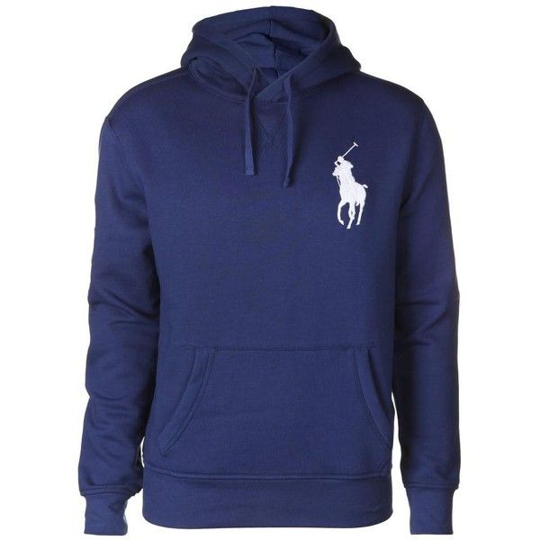 Ralph Lauren Polo Men's Big Pony Beach Fleece Freshwater Blue Hooded... ($220) ❤ liked on Polyvore