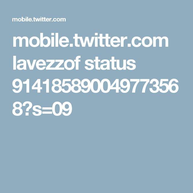 mobile.twitter.com lavezzof status 914185890049773568?s=09