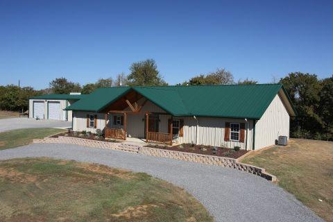 Best Walls Light Stone Roof Deep Green Custombuilding Muellersteelbuildings Metal Building 640 x 480