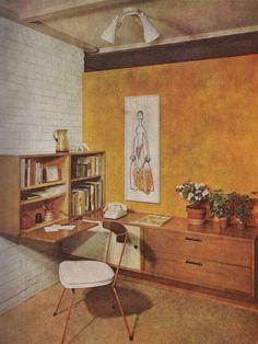 Gorge writing space #delightfull #interiordesign #luxury #decoration #decor #furniture #lighting #lamps #mid-century #architecture #Architects #design #inspiration #ideas