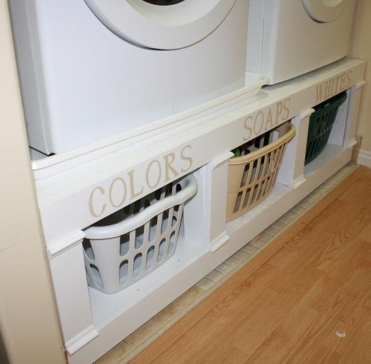 built in cubbies under washer dryer home pinterest. Black Bedroom Furniture Sets. Home Design Ideas