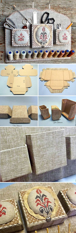 How to sew a beautiful organizer for needlework. DIY Organization Ideas  http://www.free-tutorial.net/2017/03/needlework-organizer-tutorial.html