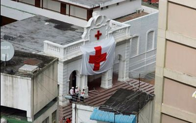 Cruz Roja se vio obligada a desplegar la bandera tras fuerte represión en La Candelaria Wilka Castillo, socorrista de la Cruz Roja– Venezuela, explicó que producto de la situación de conflicto que se presentó durante el día sábado, 10 de junio,en las inmediaciones de la institución,
