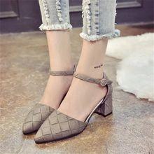 Sottolineato scarpe tacco basso fabbrica diretta hot spot 2016 nuovi pattini delle signore, singoli pattini, tacchi bassi(China (Mainland))