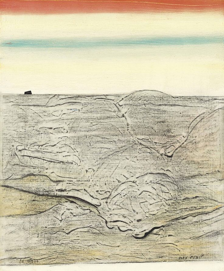 Max Ernst (German, 1891-1976), La Mer [The Sea], 1925. Oil on canvas, 46 x 38 cm.